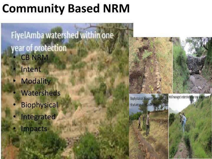 Community Based NRM