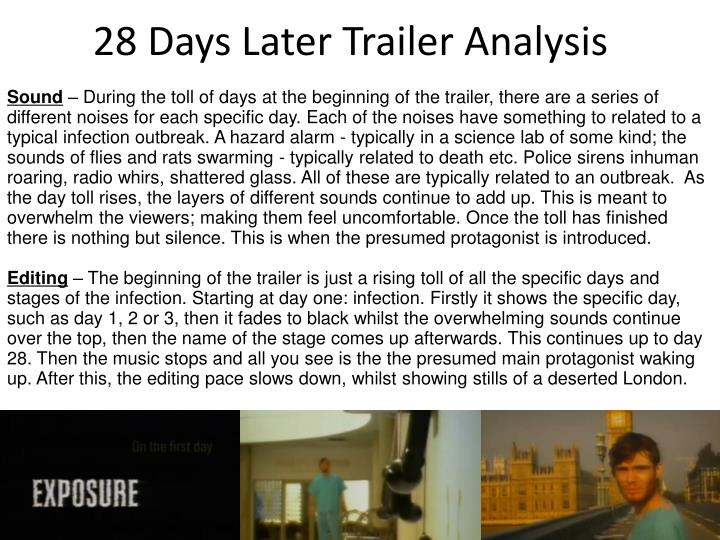 28 Days Later Trailer Analysis