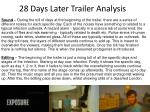 28 days later trailer analysis
