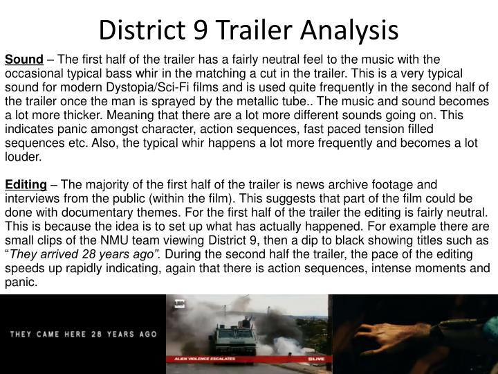 District 9 Trailer Analysis