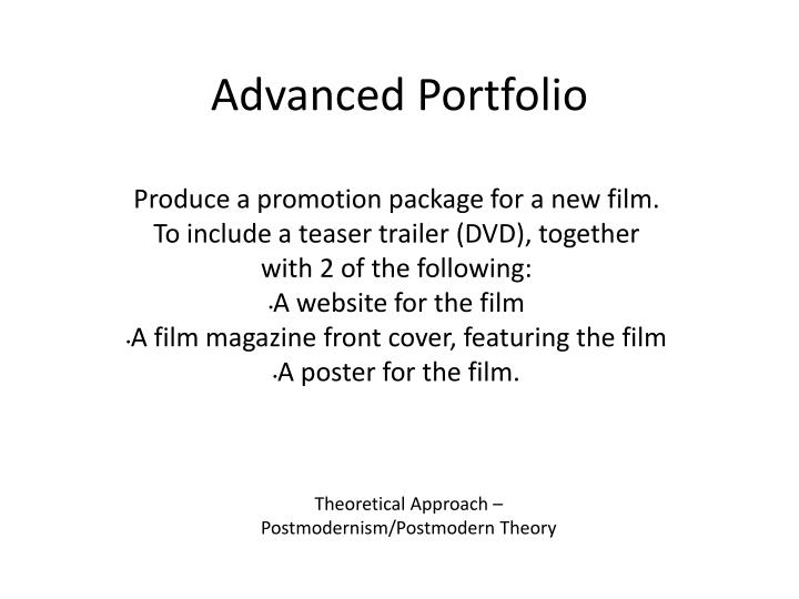 Advanced Portfolio
