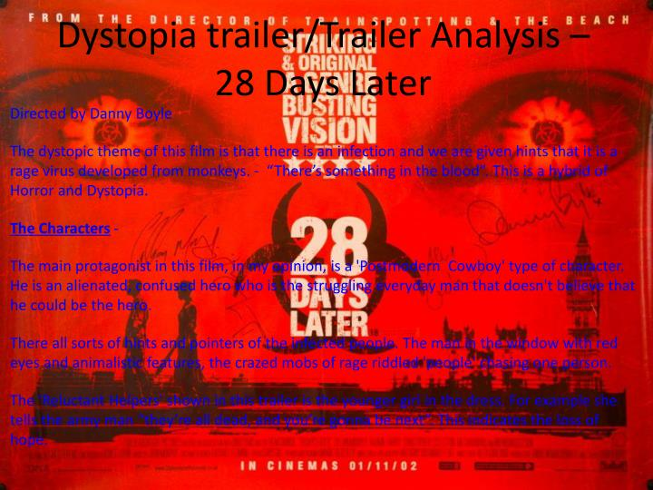 Dystopia trailer/Trailer Analysis – 28 Days Later