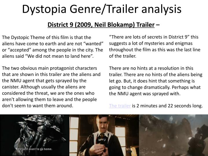 Dystopia Genre/Trailer analysis