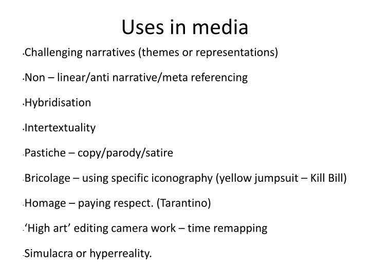 Uses in media