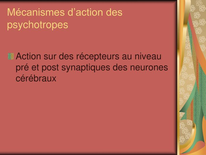 Mécanismes d'action des psychotropes