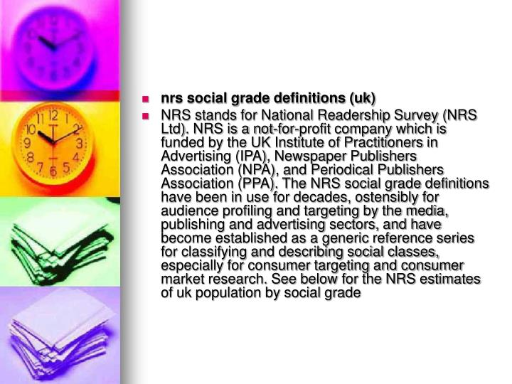 nrs social grade definitions (uk)