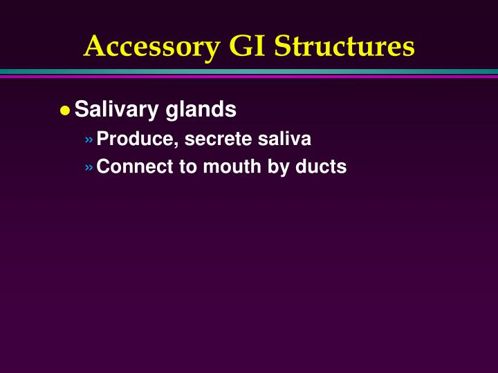 Accessory GI Structures