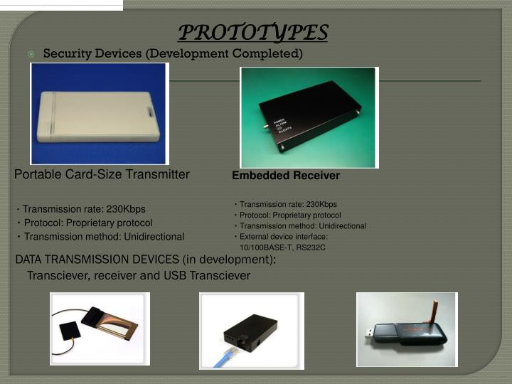 DATA TRANSMISSION DEVICES (in development):