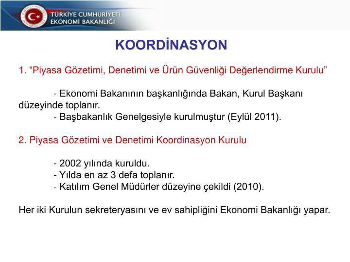 PGD'NİN KOORDİNASYONU