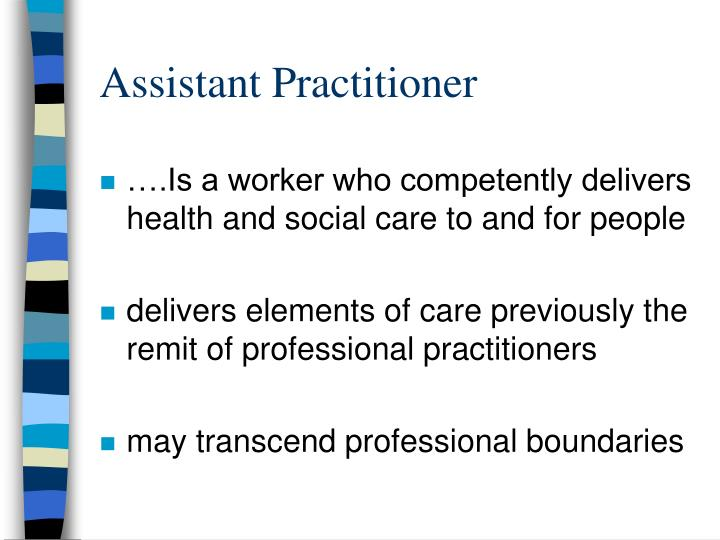 Assistant Practitioner