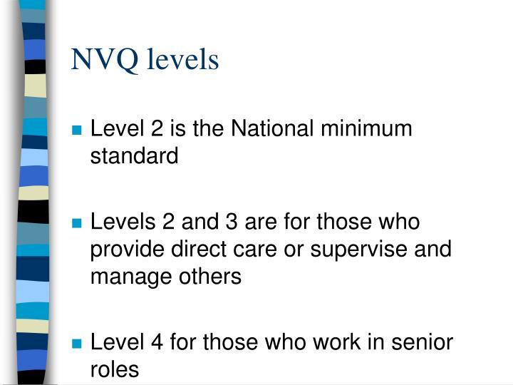 NVQ levels