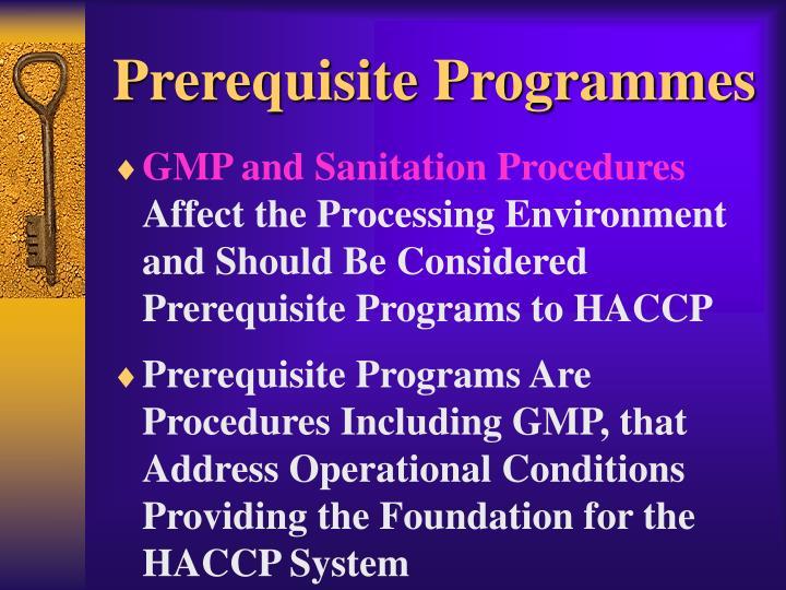 Prerequisite Programmes