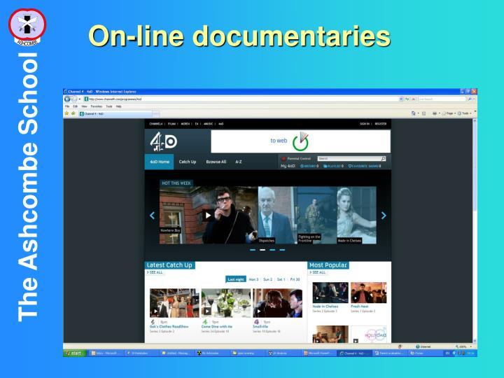 On-line documentaries