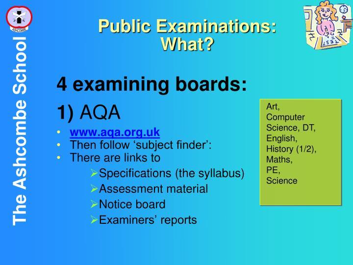Public Examinations: