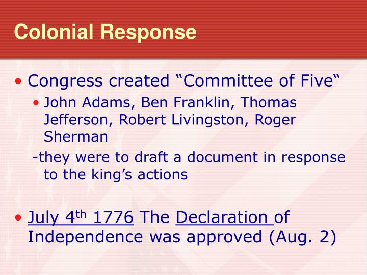 Colonial Response