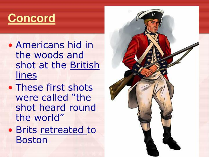 Americans hid in the woods and shot at the