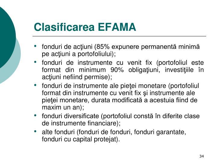 Clasificarea EFAMA
