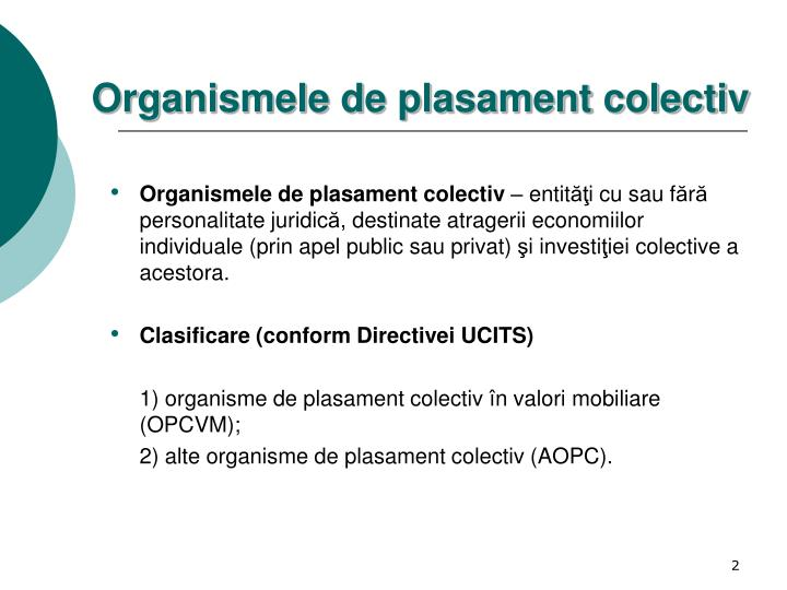 Organismele de plasament colectiv
