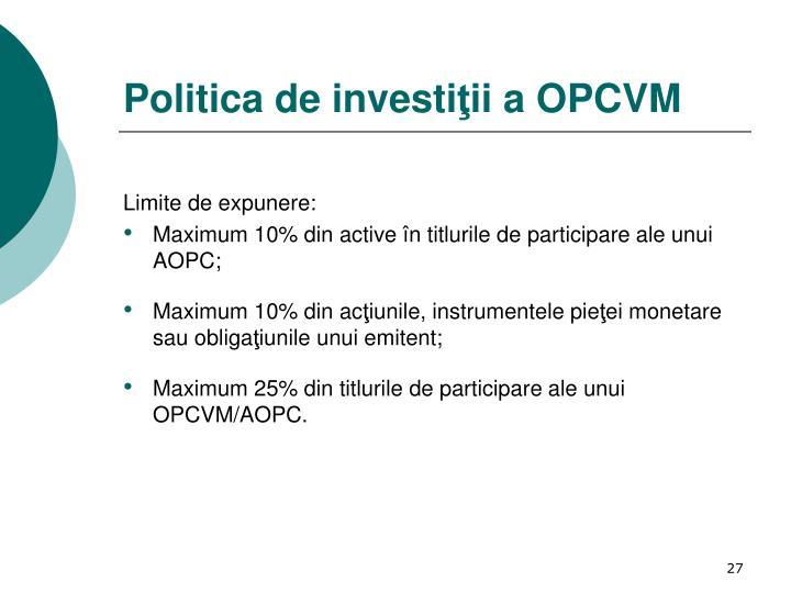 Politica de investi