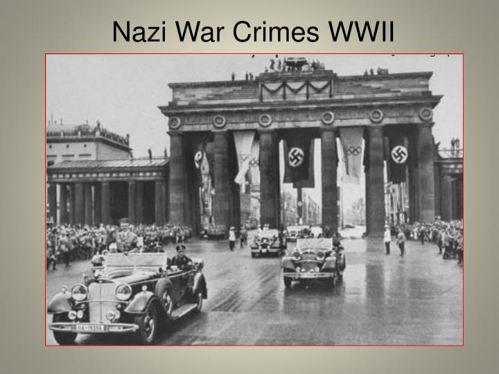 Nazi War Crimes WWII