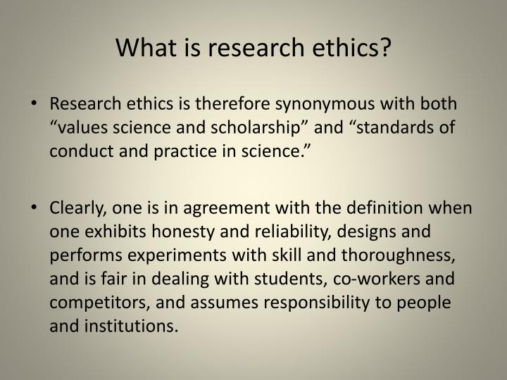 What is research ethics?