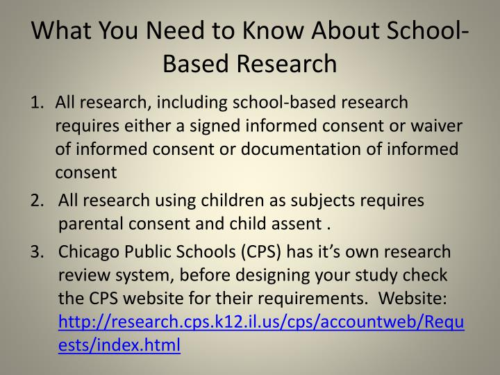 What You Need to Know About School-Based Research