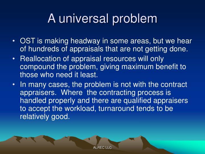 A universal problem