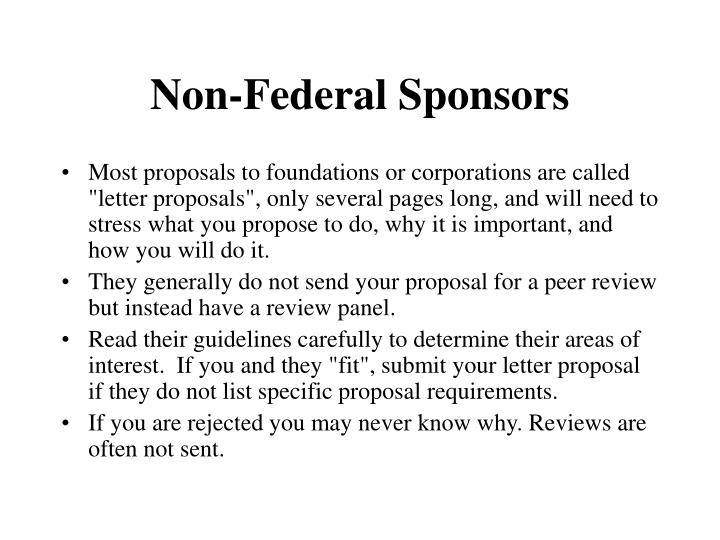Non-Federal Sponsors