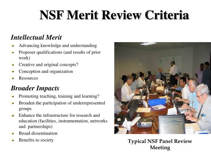 NSF Merit Review Criteria