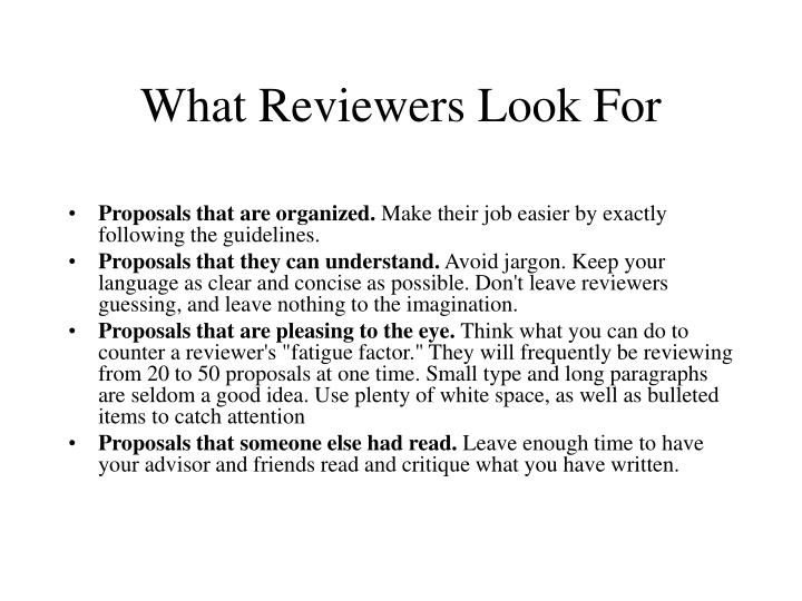 What Reviewers Look For