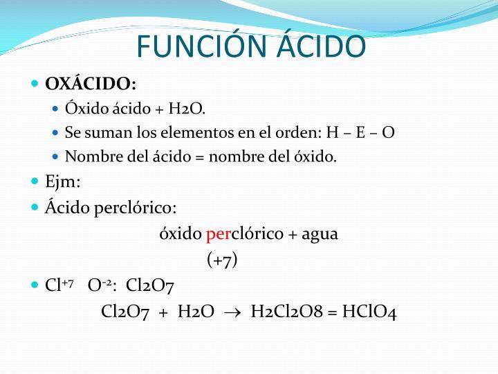 FUNCIÓN ÁCIDO