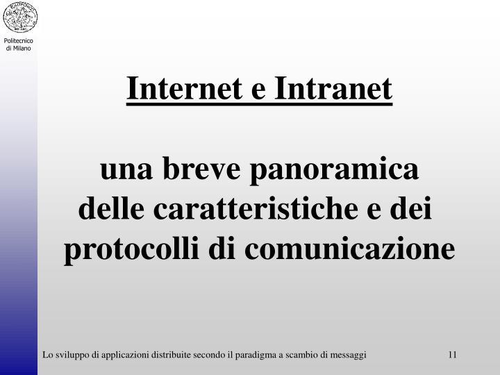 Internet e Intranet