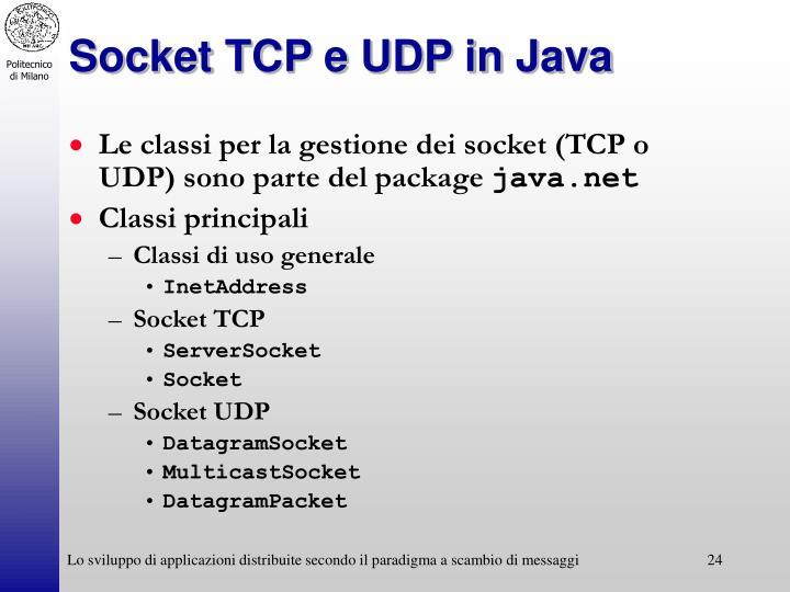 Socket TCP e UDP in Java