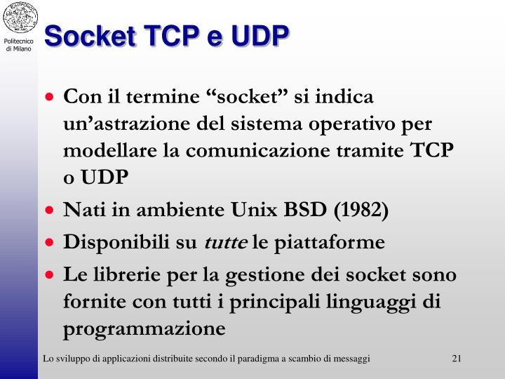 Socket TCP e UDP