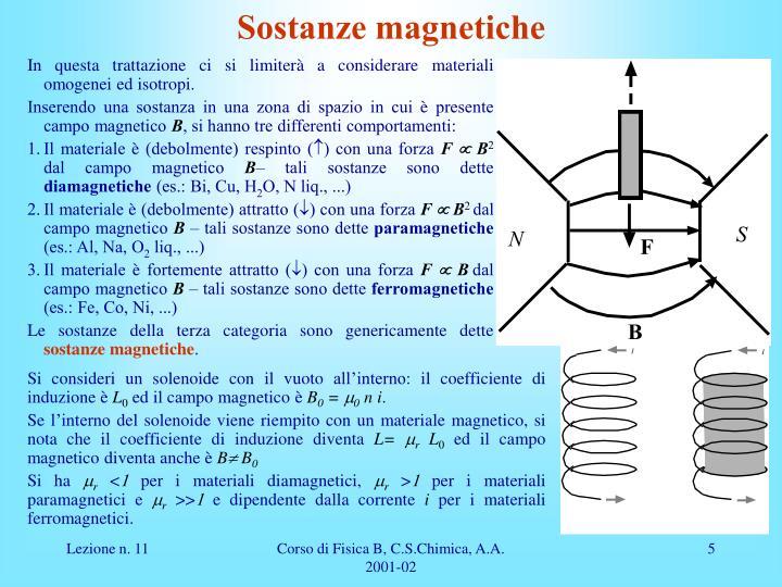 Sostanze magnetiche