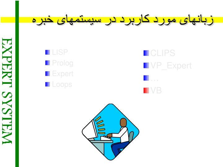 زبانهای مورد کاربرد در سیستمهای خبره