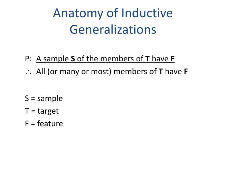 Anatomy of Inductive Generalizations