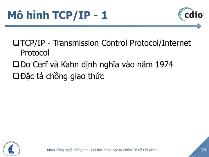 Mô hình TCP/IP - 1