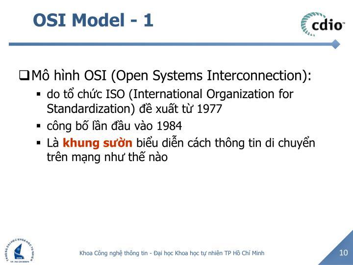 OSI Model - 1