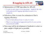 b tagging in atlas