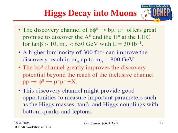 Higgs Decay into Muons