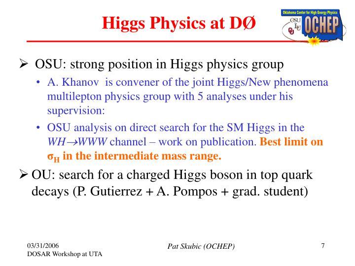 Higgs Physics at D