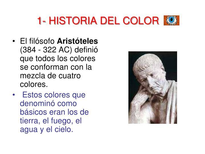 1- HISTORIA DEL COLOR