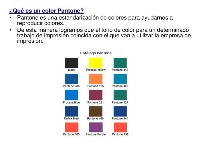 ¿Qué es un color Pantone