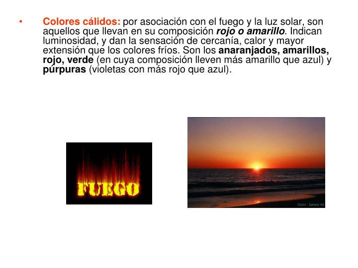 Colores cálidos: