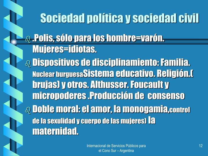 Sociedad política y sociedad civil