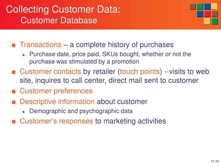 Collecting Customer Data: