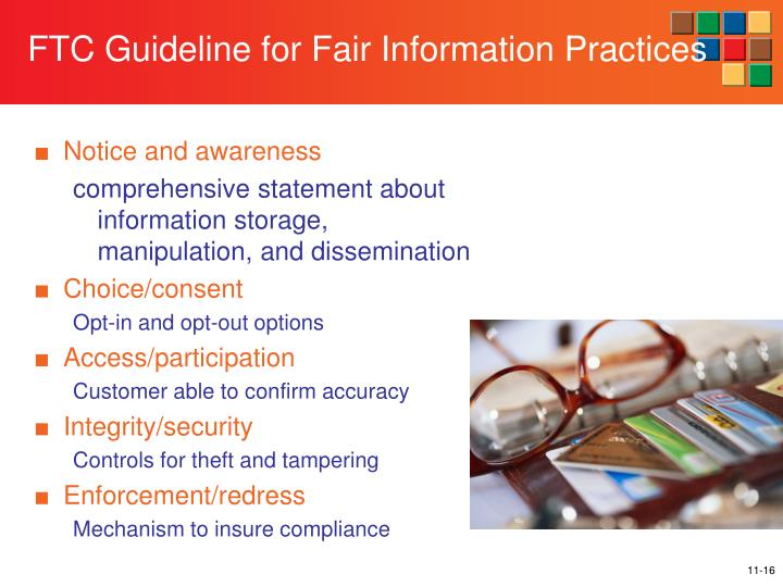 FTC Guideline for Fair Information Practices