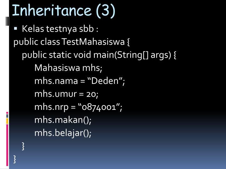 Inheritance (3)