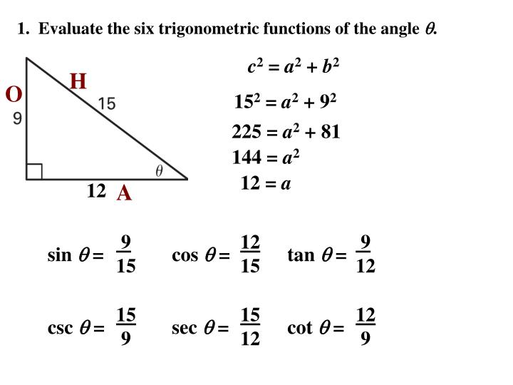how to find midline of trig function